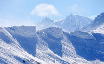 Landscape winter snow mountains