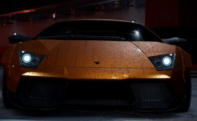 Need for speed video game lamborghini front
