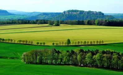 Farms landscape nature trees