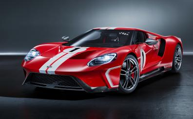 Ford gt 67 heritage edition sports car red