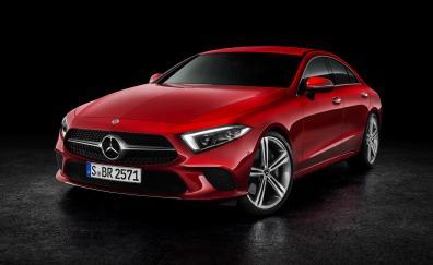 Mercedes benz cls 450 2018 4k