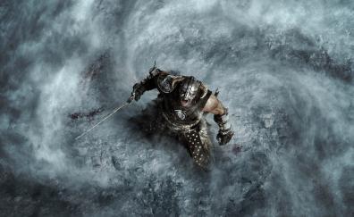 The elder scrolls v skyrim warrior video game