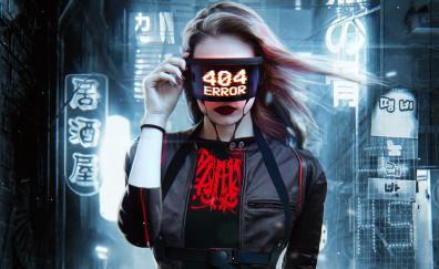 404 error, sci-fi, girl