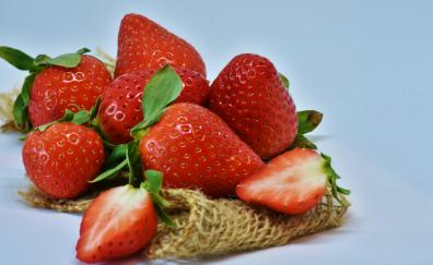 Strawberries, fruits, close up, slices