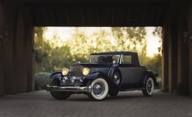 Black 1933 packard twelve coupe roadster