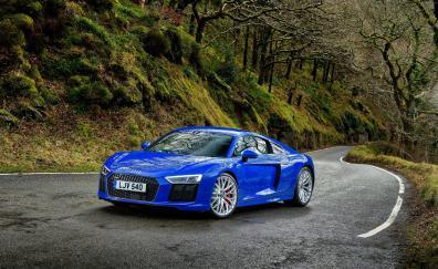 Audi r8 blue luxurious car