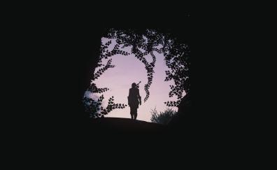 Archer, silhouette, Assassin's Creed