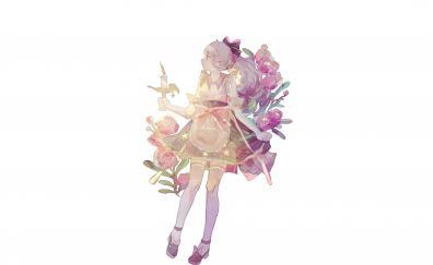 Anime girl with candle anime girl
