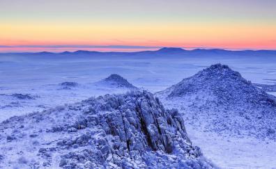 Freezing landscape nature winter