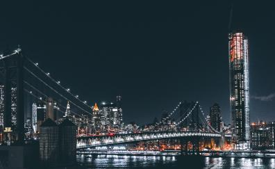 Brooklyn bridege night city