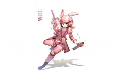 Karen kohiruimaki anime girl pink dress