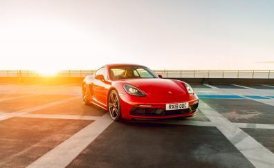 Red, Porsche Cayman, sports car
