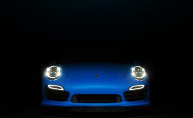 Porsech blue 911 car