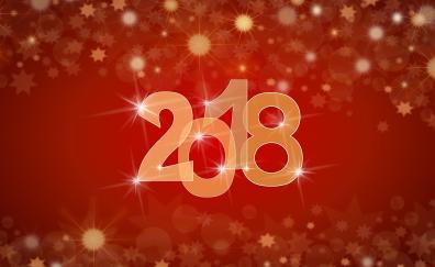 Happy new year 2018 digital art