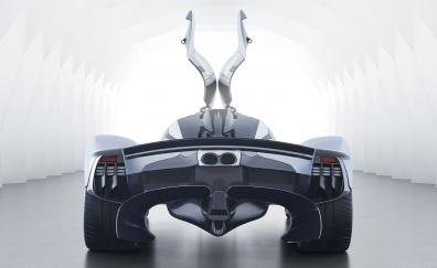 Taillights, rear view, Aston Martin Valkyrie