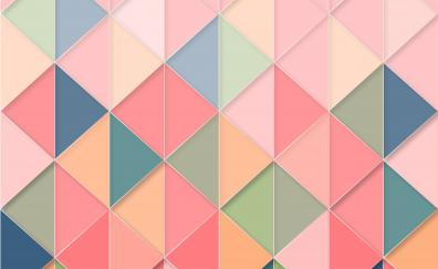 Triangles, geometric, abstract, pattern