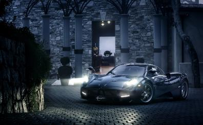 Headlight pagani huayra sports car