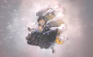 Monkey d luffy black fist anime
