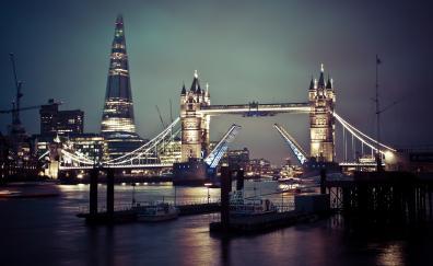 Tower bridge london cityscape 4k