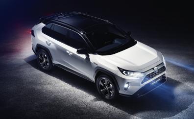 2019 toyota rav4 hybrid suv 4k