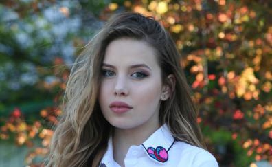 Beautiful teen model outdoor