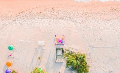Beach, aerial view, summer