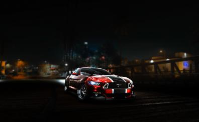 Need for speed ford mustang art