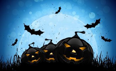 Pumpkin, halloween, digital art