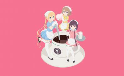Anime girls kaho hinata mafuyu hoshikawa maika sakuranomiya