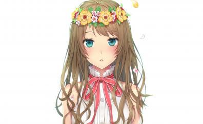 Cute blue eyes anime girl