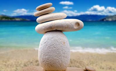 Stones, balance, zen, medication, calm
