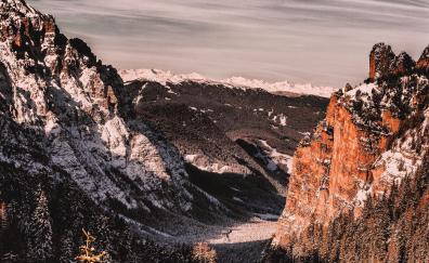 Mountains valley nature san vigilio italy