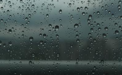 Drops glass wet surface 5k