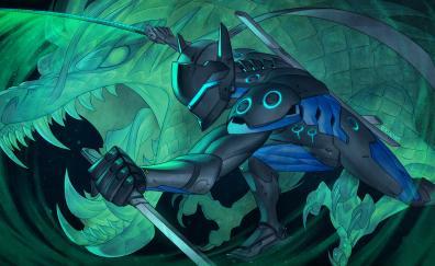 Genji overwatch warrior
