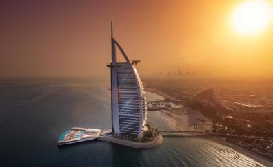 Cityscape aerial view burj al arab