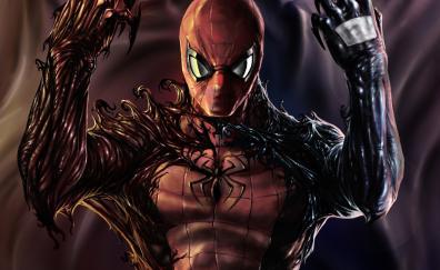 Carnage, venom, spider-man, artwork