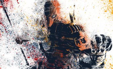 Deathstroke splat colours artwork
