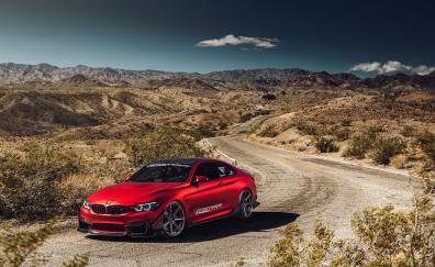 Red bmw m4 luxury car outdoor