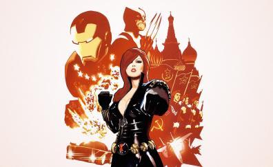 Black widow minimal marvel comics