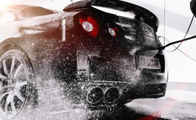 Nissan r35 gtr rear