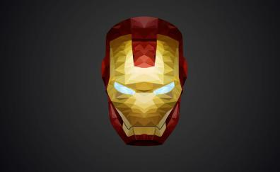 Iron man helmet low poly minimal