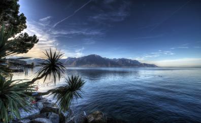 Montreux lake switzerland 4k