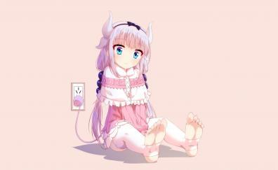 Charging anime girl kanna kamui