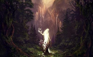 Spirit, fantasy, woman, forest