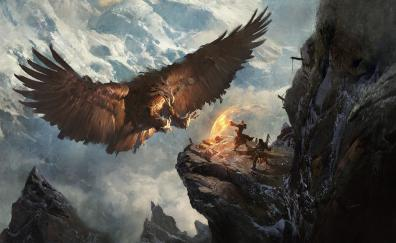 Eagle fantasy warrior art