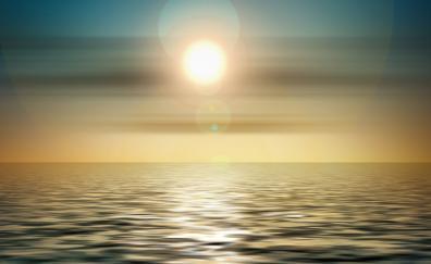 Sunset sea abstract
