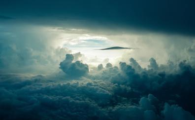 Above sky clouds