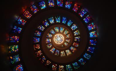 Dome, architecture, spiral