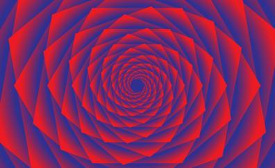 Fractal spiral pattern