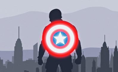 Captain america shield minimal
